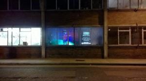 Ohno (2014) by Michael Achtman. filmpro street window projection. Photo Credit: Caglar Kimyoncu