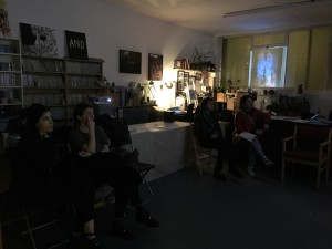 First guests watch the films