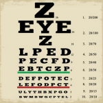 Z eyeZ poster. An eye chart with letters Z, EYE, Z