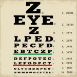 Z eyeZ poster. An eye chart with letters Z, EYE, Z
