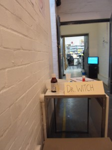 Dr Witch's desk ready to welcome patients
